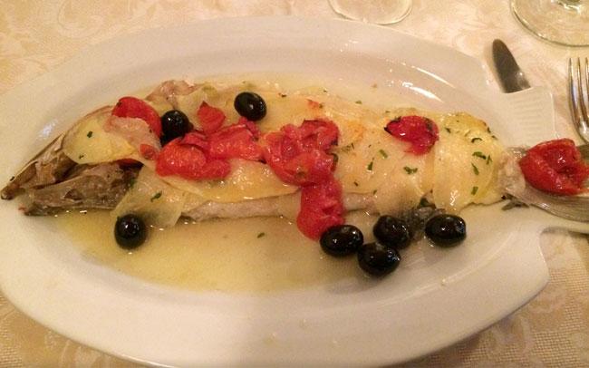 Al Portichetto, Sesto Calende, piatto di pesce